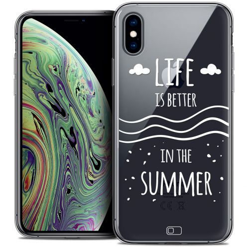 "Extra Slim Crystal Gel Apple iPhone Xs Max (6.5"") Case Summer Life's Better"