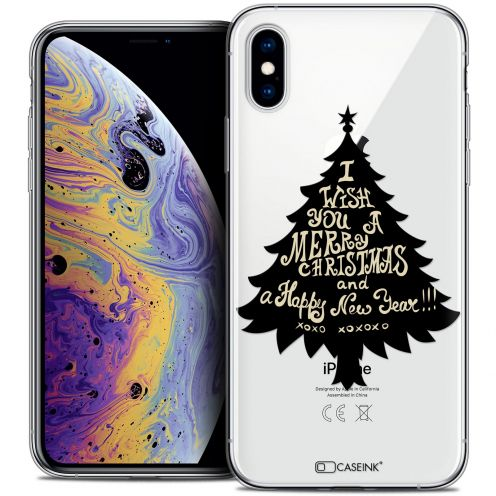 "Extra Slim Crystal Gel Apple iPhone Xs Max (6.5"") Case Noël 2017 XOXO Tree"
