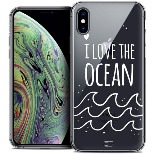"Extra Slim Crystal Gel Apple iPhone Xs Max (6.5"") Case Summer I Love Ocean"