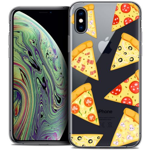 "Extra Slim Crystal Gel Apple iPhone Xs Max (6.5"") Case Foodie Pizza"