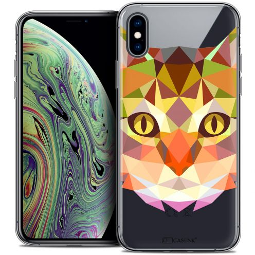 "Extra Slim Crystal Gel Apple iPhone Xs Max (6.5"") Case Polygon Animals Cat"