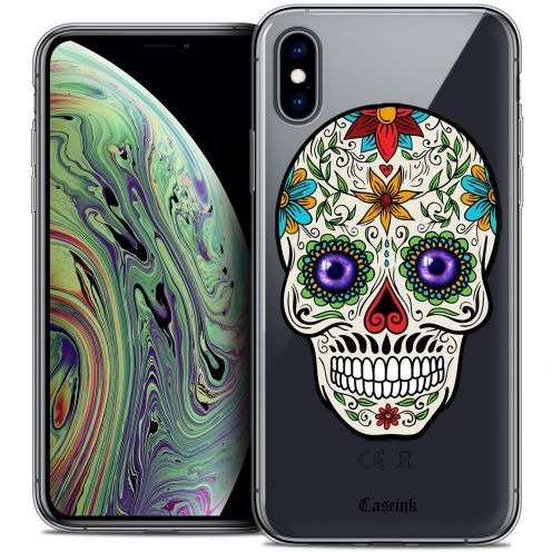 "Extra Slim Crystal Gel Apple iPhone Xs Max (6.5"") Case Skull Maria's Flower"