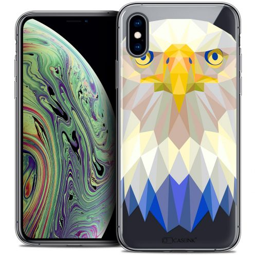 "Extra Slim Crystal Gel Apple iPhone Xs Max (6.5"") Case Polygon Animals Eagle"