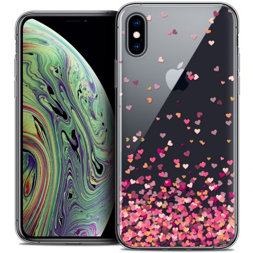 "Extra Slim Crystal Gel Apple iPhone Xs Max (6.5"") Case Sweetie Heart Flakes"