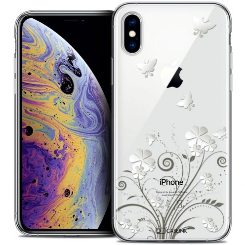 "Extra Slim Crystal Gel Apple iPhone Xs Max (6.5"") Case Summer Papillons"