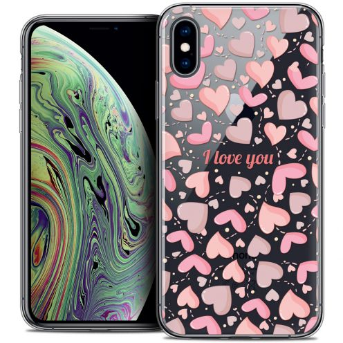 "Extra Slim Crystal Gel Apple iPhone Xs Max (6.5"") Case Love I Love You"