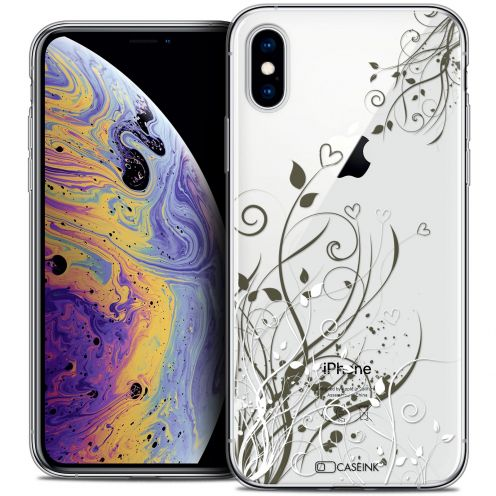 "Extra Slim Crystal Gel Apple iPhone Xs Max (6.5"") Case Love Hearts Flowers"