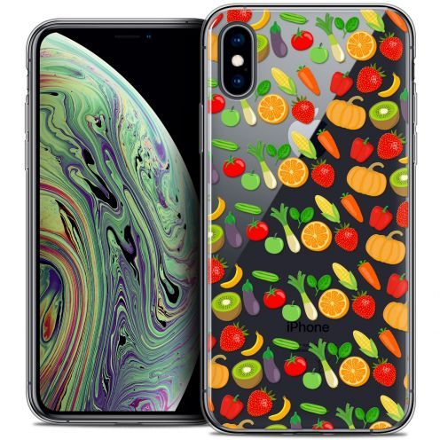 "Extra Slim Crystal Gel Apple iPhone Xs Max (6.5"") Case Foodie Healthy"