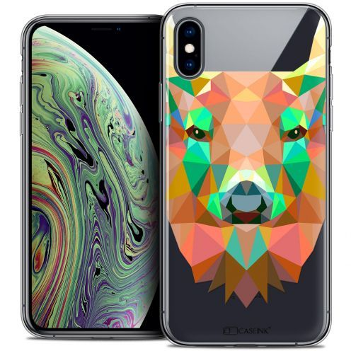 "Extra Slim Crystal Gel Apple iPhone Xs Max (6.5"") Case Polygon Animals Deer"