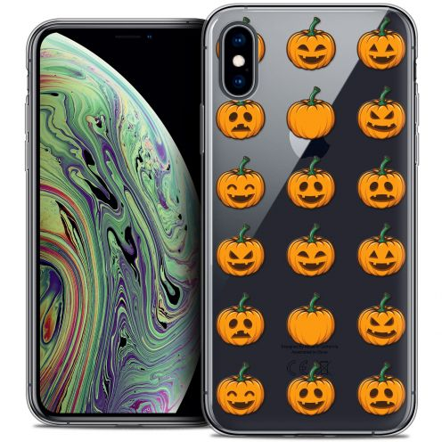 "Extra Slim Crystal Gel Apple iPhone Xs Max (6.5"") Case Halloween Smiley Citrouille"