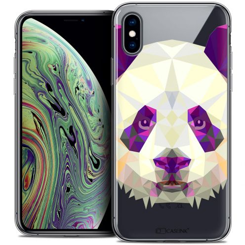 "Extra Slim Crystal Gel Apple iPhone Xs Max (6.5"") Case Polygon Animals Panda"