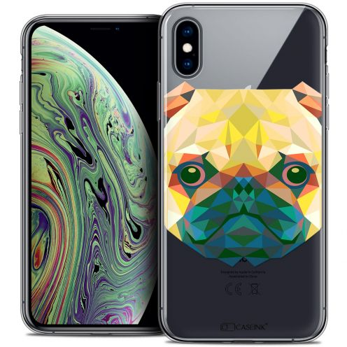 "Extra Slim Crystal Gel Apple iPhone Xs Max (6.5"") Case Polygon Animals Dog"