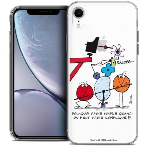 """Extra Slim Crystal Gel Apple iPhone Xr (6.1"""") Case Les Shadoks® Pourquoi faire Simple"""