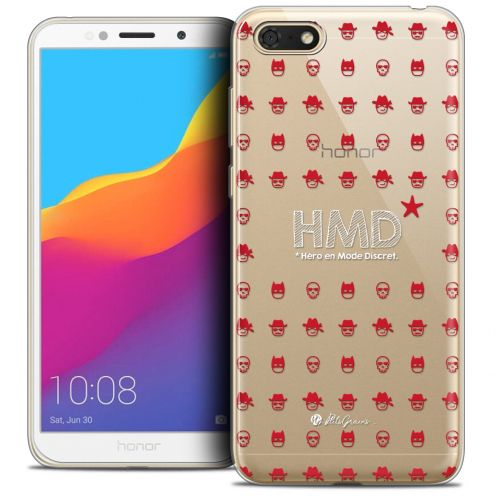 "Extra Slim Crystal Gel Huawei Y5 2018 (5.4"") Case Petits Grains® HMD* Hero en Mode Discret"