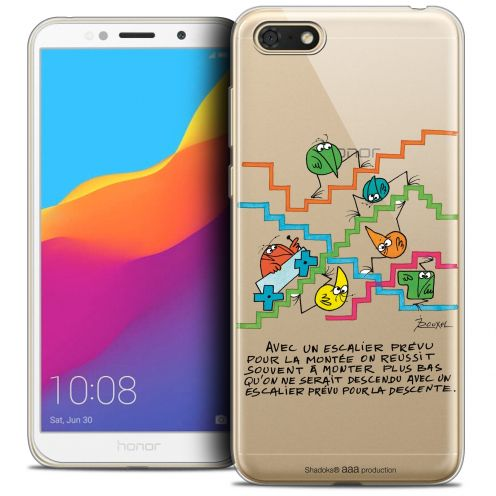 "Extra Slim Crystal Gel Huawei Y5 2018 (5.4"") Case Les Shadoks® L'escalier"