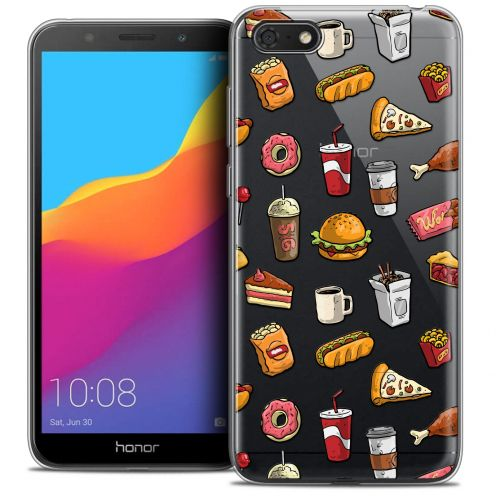 "Extra Slim Crystal Gel Huawei Y5 2018 (5.4"") Case Foodie Fast Food"