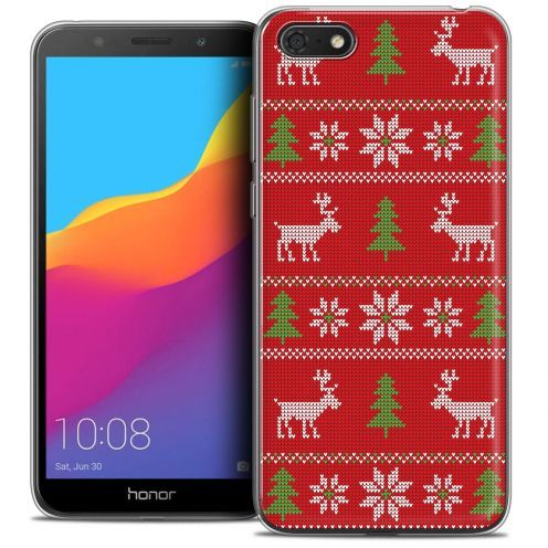 "Extra Slim Crystal Gel Huawei Y5 2018 (5.4"") Case Noël 2017 Couture Rouge"