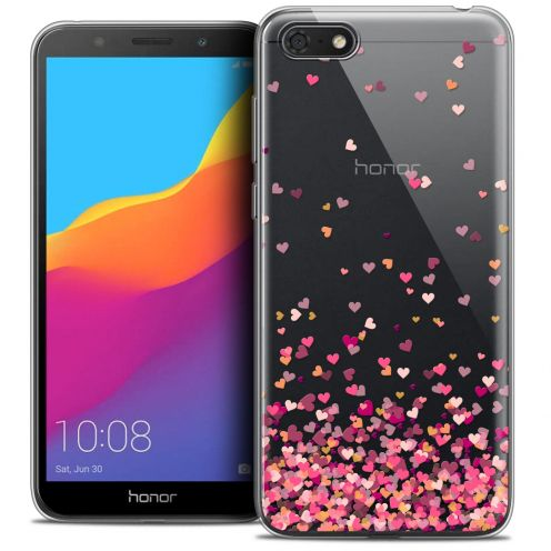 "Extra Slim Crystal Gel Huawei Y5 2018 (5.4"") Case Sweetie Heart Flakes"