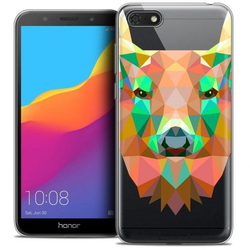 "Extra Slim Crystal Gel Huawei Y5 2018 (5.4"") Case Polygon Animals Deer"