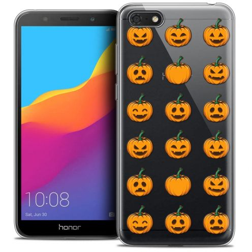 "Extra Slim Crystal Gel Huawei Y5 2018 (5.4"") Case Halloween Smiley Citrouille"