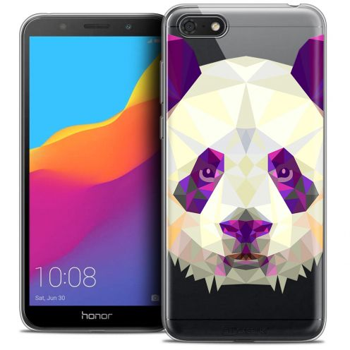 "Extra Slim Crystal Gel Huawei Y5 2018 (5.4"") Case Polygon Animals Panda"