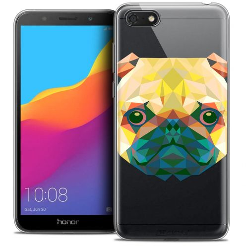"Extra Slim Crystal Gel Huawei Y5 2018 (5.4"") Case Polygon Animals Dog"