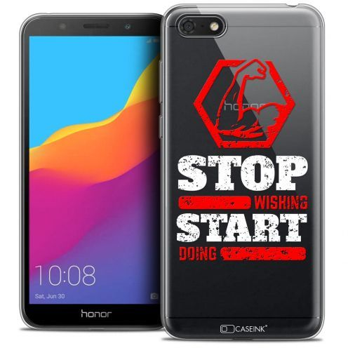 "Extra Slim Crystal Gel Huawei Y5 2018 (5.4"") Case Quote Start Doing"