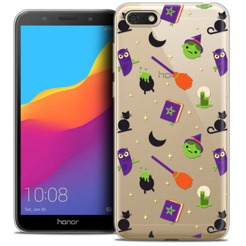 "Extra Slim Crystal Gel Huawei Y5 2018 (5.4"") Case Halloween Witch Potter"