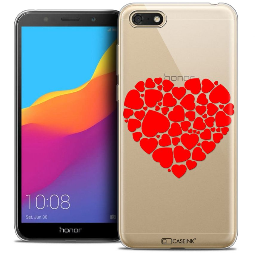 "Extra Slim Crystal Gel Honor 7S (5.45"") Case Love Coeur des Coeurs"