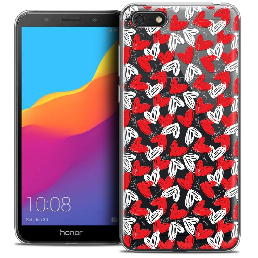 "Extra Slim Crystal Gel Honor 7S (5.45"") Case Love With Love"