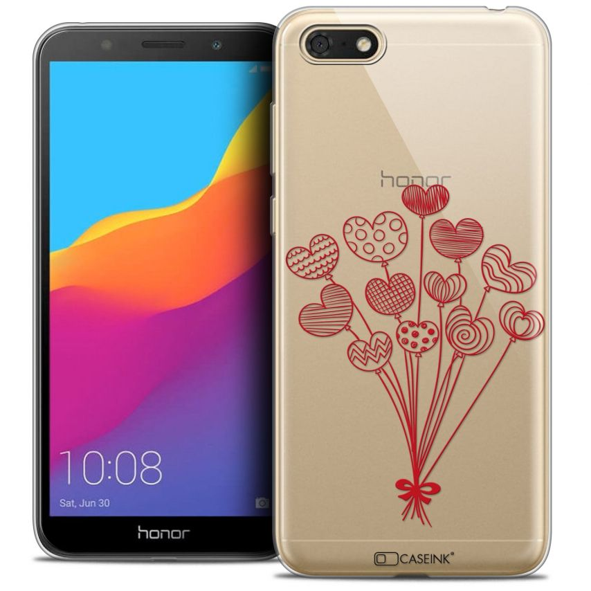 """Extra Slim Crystal Gel Honor 7S (5.45"""") Case Love Ballons d'amour"""