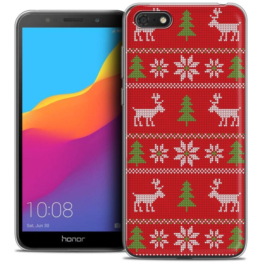 "Extra Slim Crystal Gel Honor 7S (5.45"") Case Noël 2017 Couture Rouge"