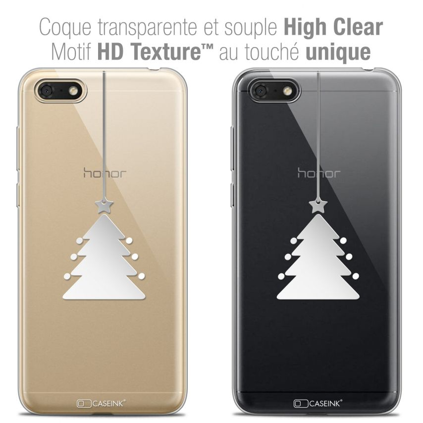 "Extra Slim Crystal Gel Honor 7S (5.45"") Case Noël 2017 Petit Arbre"