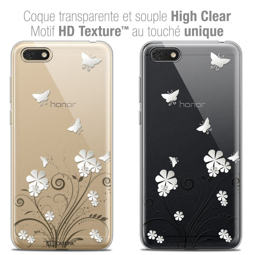 """Extra Slim Crystal Gel Honor 7S (5.45"""") Case Summer Papillons"""