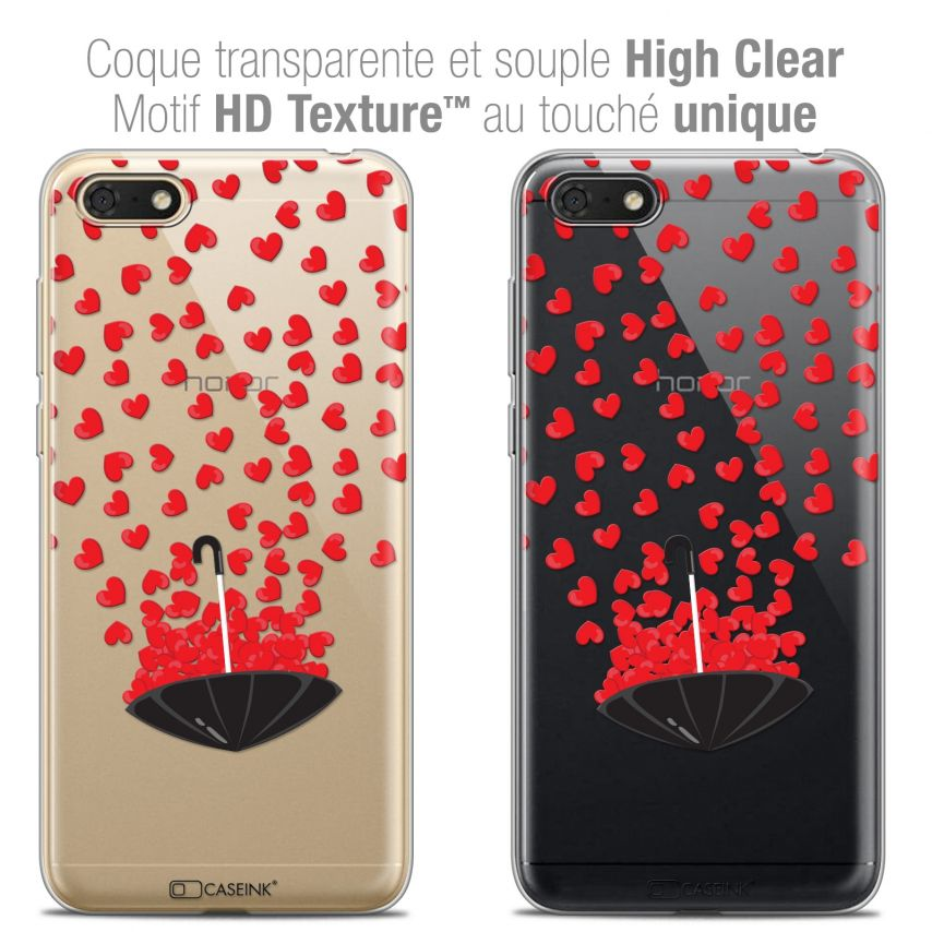 "Extra Slim Crystal Gel Honor 7S (5.45"") Case Love Parapluie d'Amour"