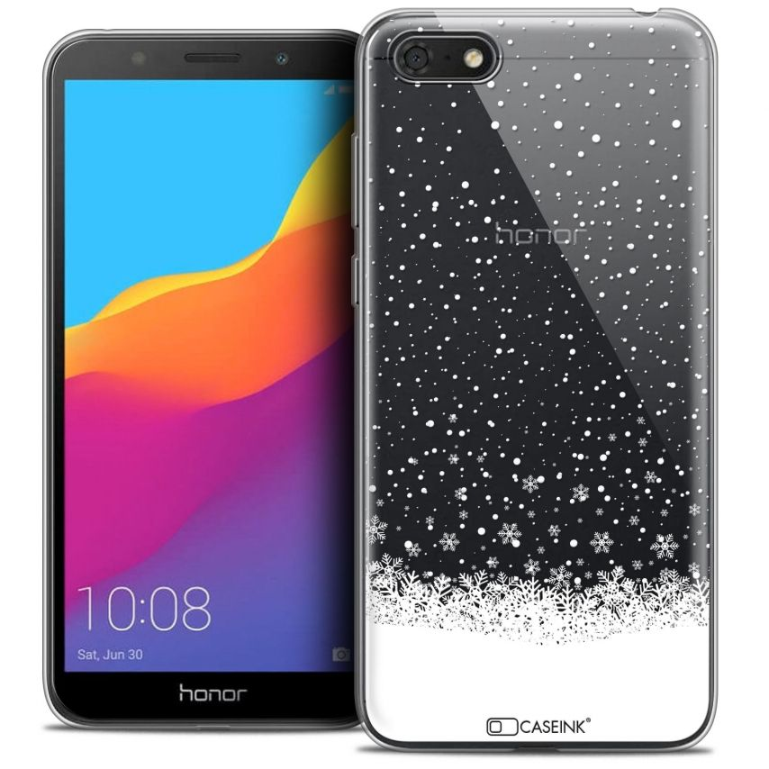 "Extra Slim Crystal Gel Honor 7S (5.45"") Case Noël 2017 Flocons de Neige"