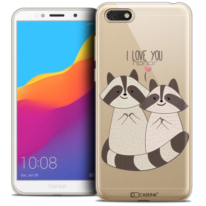 "Extra Slim Crystal Gel Honor 7S (5.45"") Case Sweetie Racoon Love"