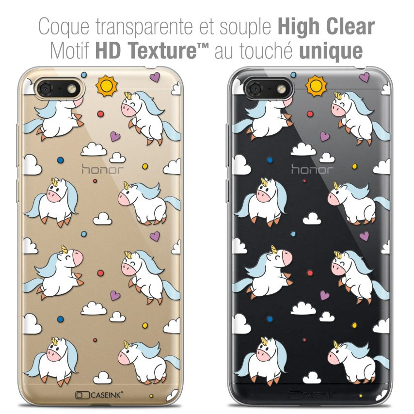 "Extra Slim Crystal Gel Honor 7S (5.45"") Case Fantasia Licorne In the Sky"