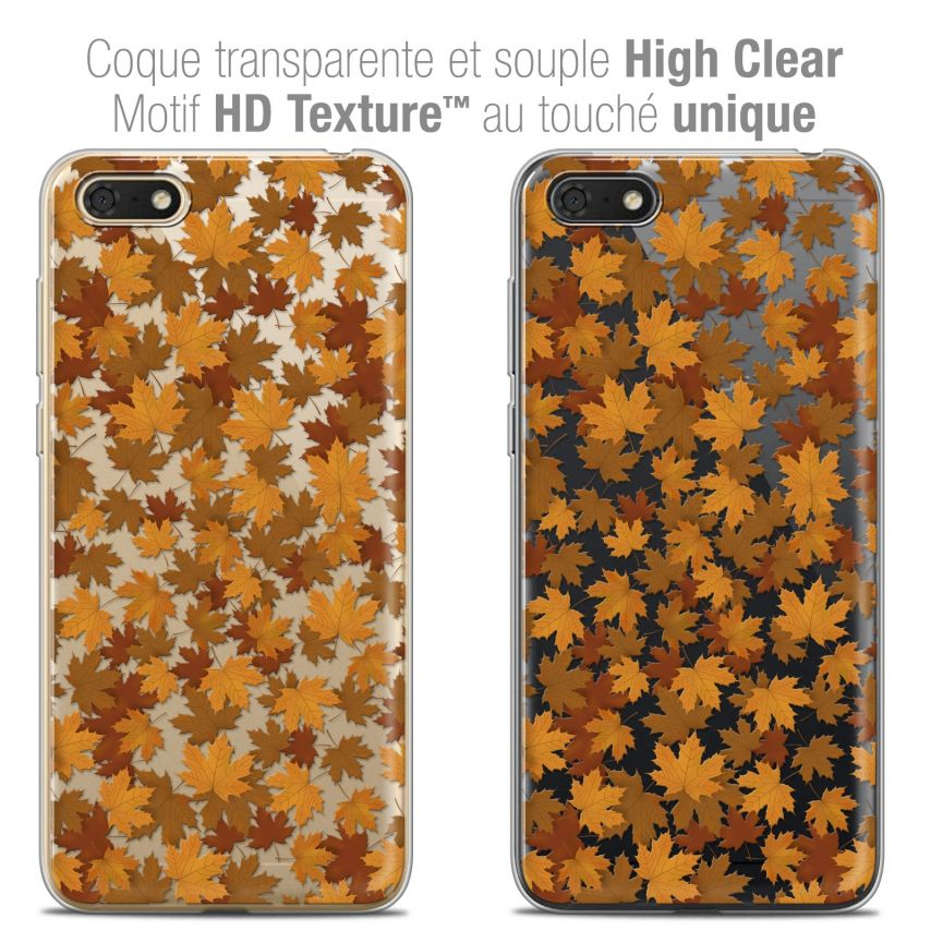 "Extra Slim Crystal Gel Honor 7S (5.45"") Case Autumn 16 Feuilles"