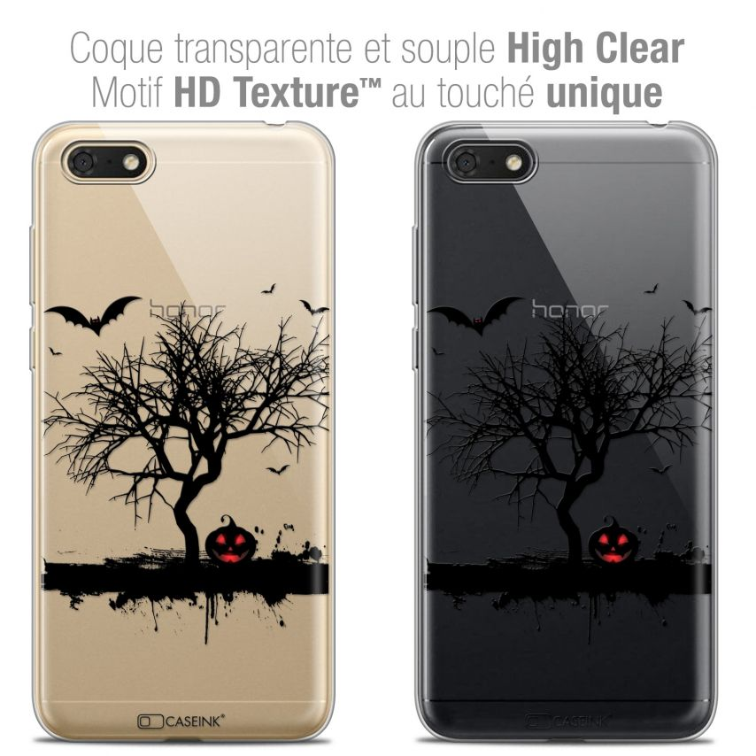 "Extra Slim Crystal Gel Honor 7S (5.45"") Case Halloween Devil's Tree"