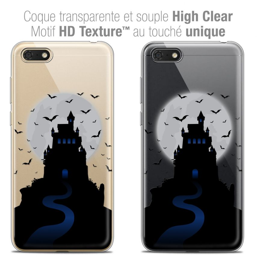 "Extra Slim Crystal Gel Honor 7S (5.45"") Case Halloween Castle Nightmare"