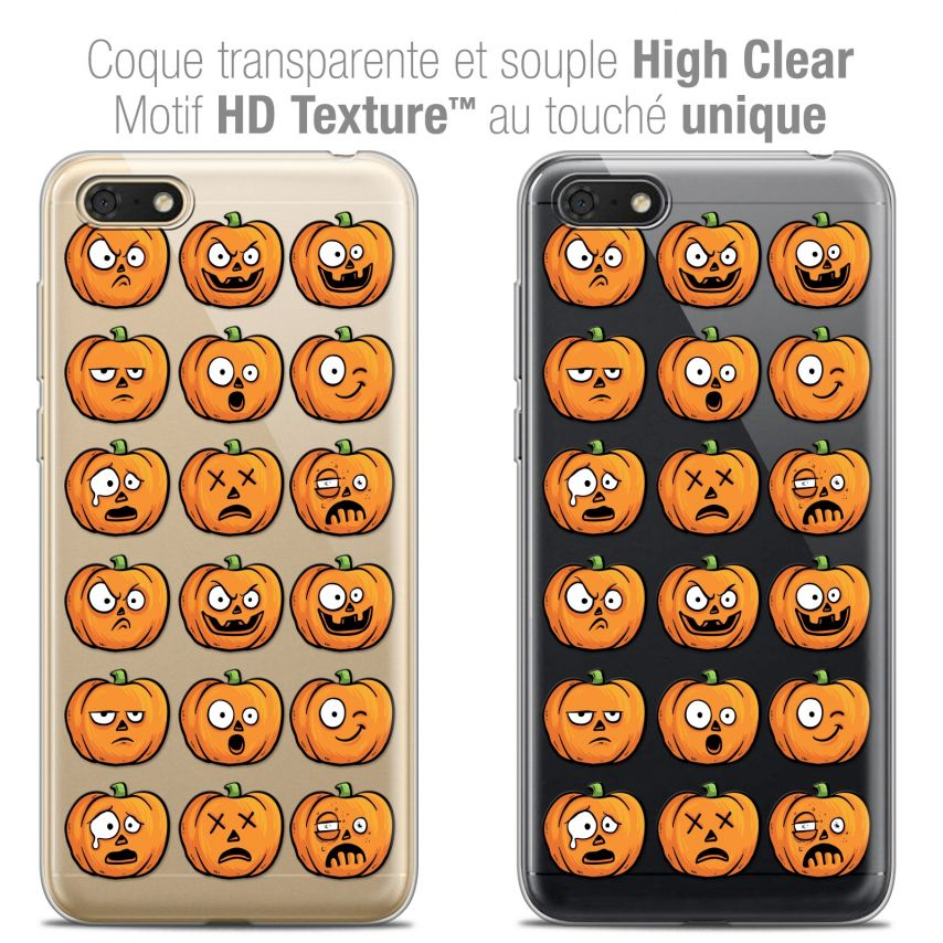 "Extra Slim Crystal Gel Honor 7S (5.45"") Case Halloween Cartoon Citrouille"