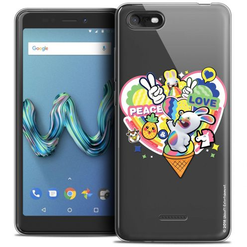 """Crystal Gel Wiko Tommy 3 (5.45"""") Case Lapins Crétins™ Peace And Love"""