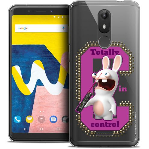 """Crystal Gel Wiko View LITE (5.45"""") Case Lapins Crétins™ In Control !"""
