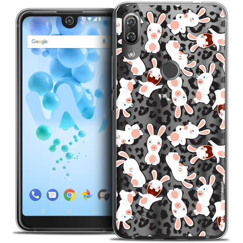 """Crystal Gel Wiko View 2 PRO (6.0"""") Case Lapins Crétins™ Leopard Pattern"""