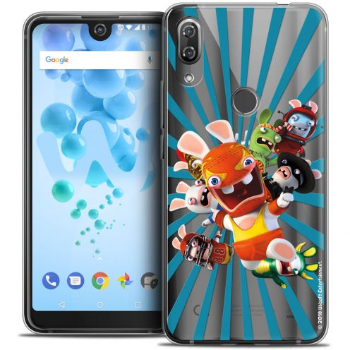 """Crystal Gel Wiko View 2 PRO (6.0"""") Case Lapins Crétins™ Super Heros"""