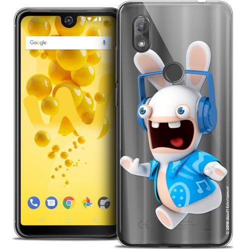 "Crystal Gel Wiko View 2 (6.0"") Case Lapins Crétins™ Techno Lapin"