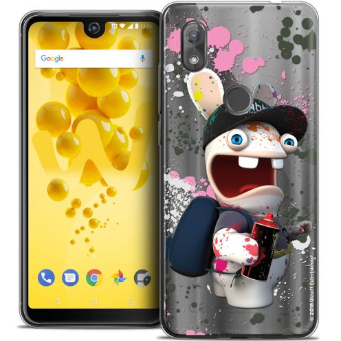 """Crystal Gel Wiko View 2 (6.0"""") Case Lapins Crétins™ Painter"""