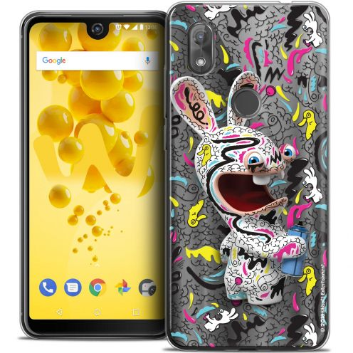 """Crystal Gel Wiko View 2 (6.0"""") Case Lapins Crétins™ Tag"""