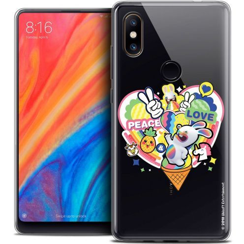 """Crystal Gel Xiaomi Mi Mix 2S (5.99"""") Case Lapins Crétins™ Peace And Love"""